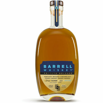 Barrell Whiskey Private Release DSX1 finished in a Pedro Ximenez Sherry Barrel