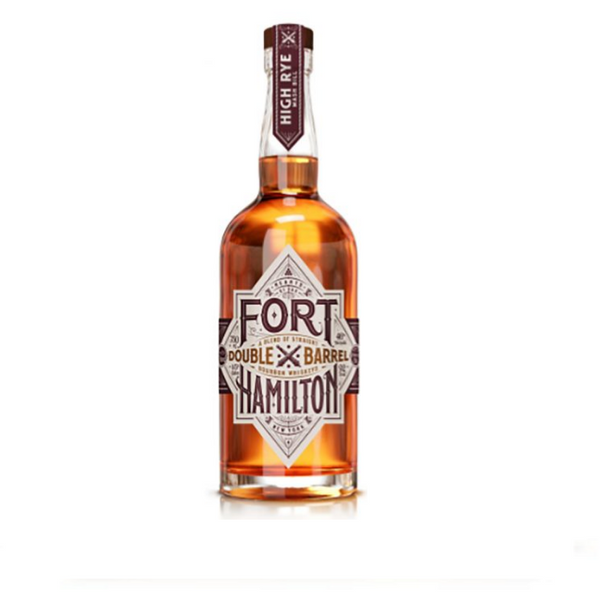 Fort Hamilton, 2 Years Old Double Barrel A Blend Of Straight Bourbon Whiskeys