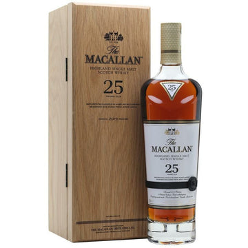 Macallan 25 Year Old Sherry Oak Single Malt Scotch 2019 Release
