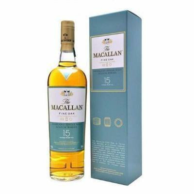 Macallan Fine Oak 15 Year Old Single Malt Scotch