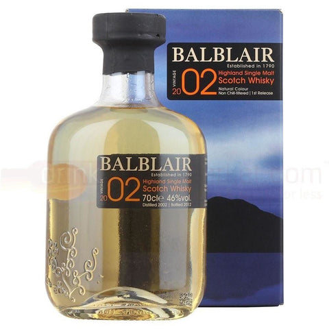 Balblair Scotch Single Malt 2002