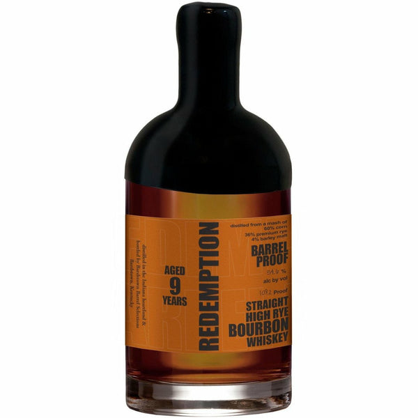 Redemption Barrel Proof 9 Year Straight High Rye Bourbon Whiskey