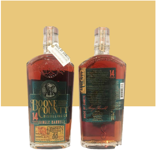 Boone County 1833 14 Year Old Single Barrel Cask Strength Straight Bourbon