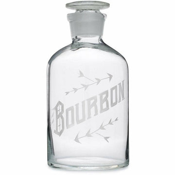 Hand Engraved Glass Decanter - Bourbon