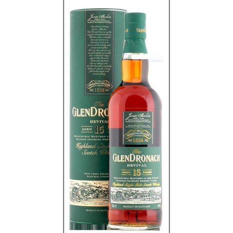 Glendronach Scotch Single Malt 15 Year Revival