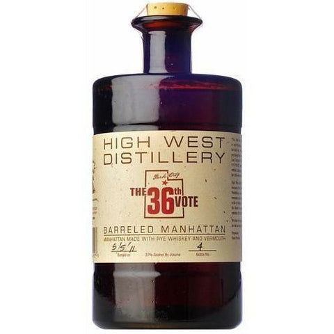 36th Vote Barreled Manhattan by High West