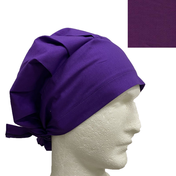 """Identifier"" Tie Back Bouffant  Scrub Hat - 1015G Plain Colours"