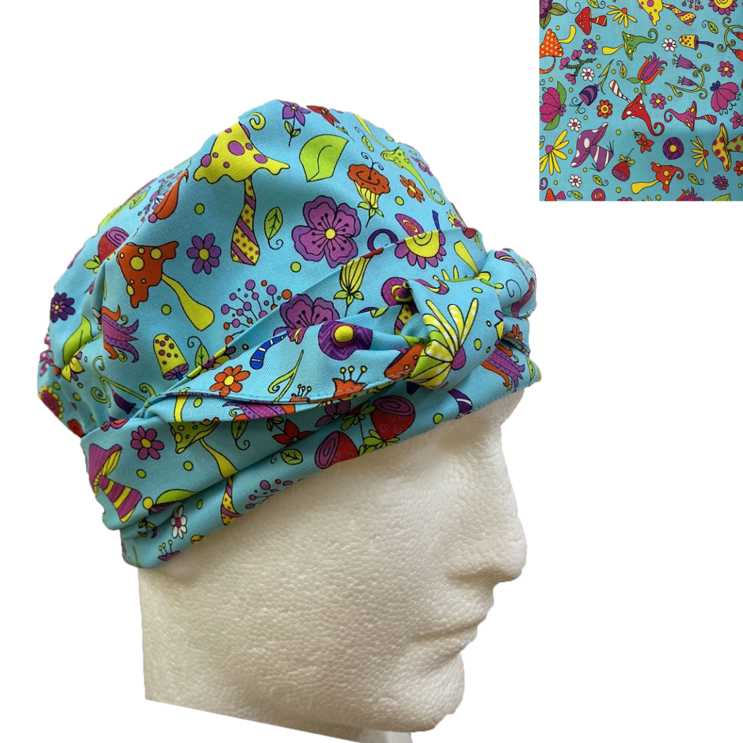 Bonnet Style Scrub Hat- 1015D Patterns