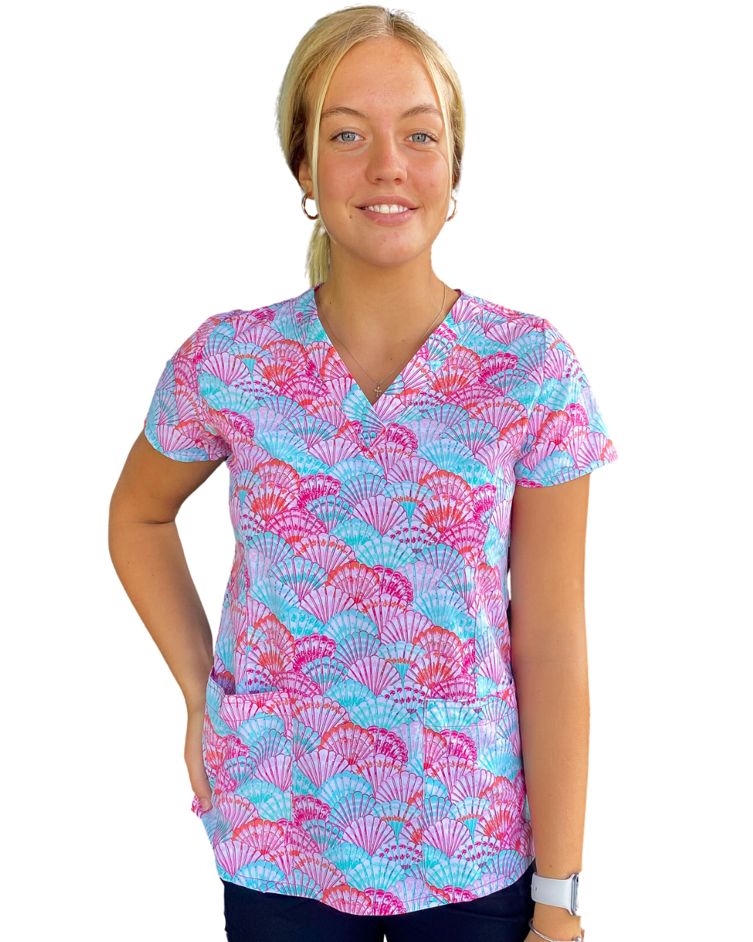 Forever Seashells Women's Scrub Top - 1767
