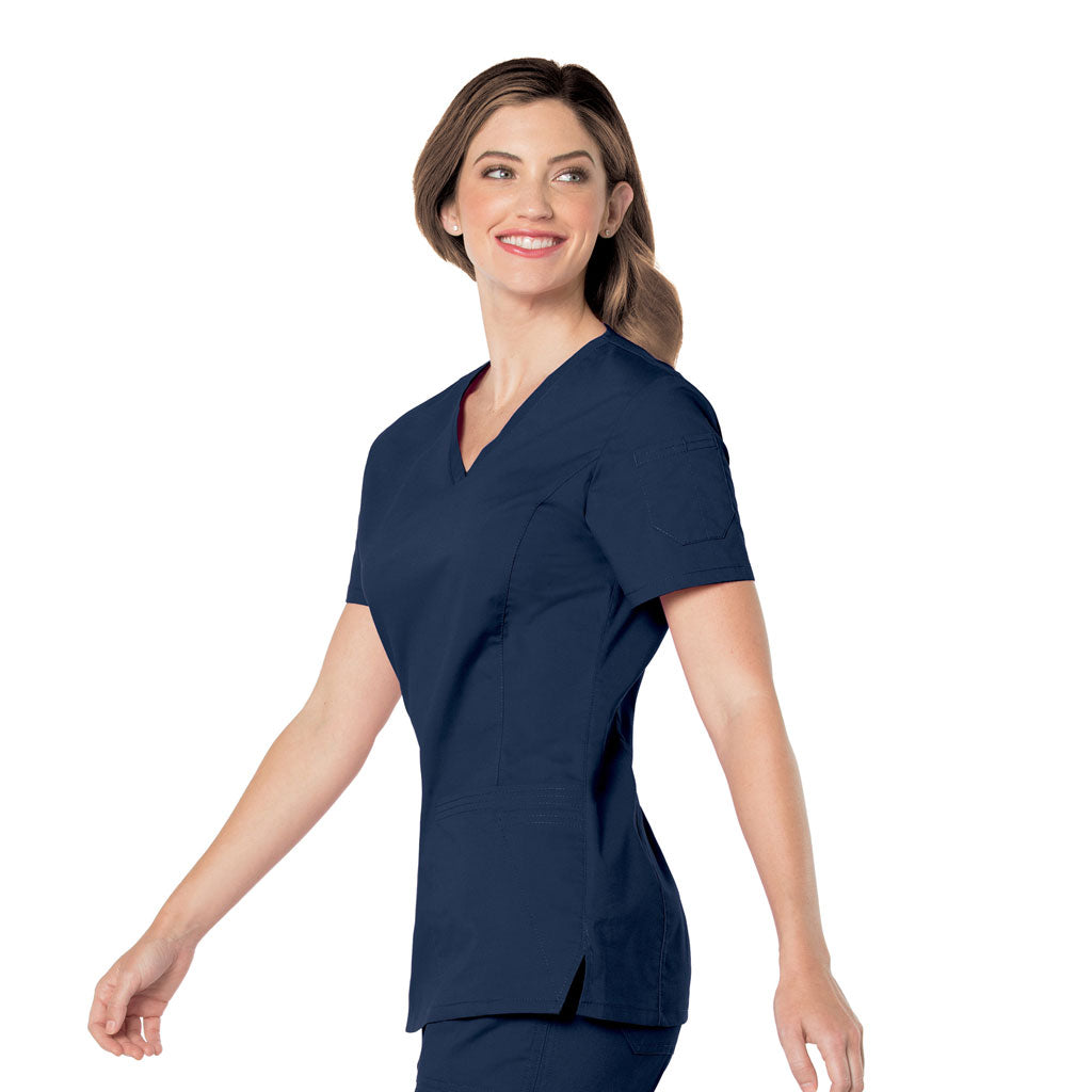 Landau Pre-Washed Scrub Navy Top -4125