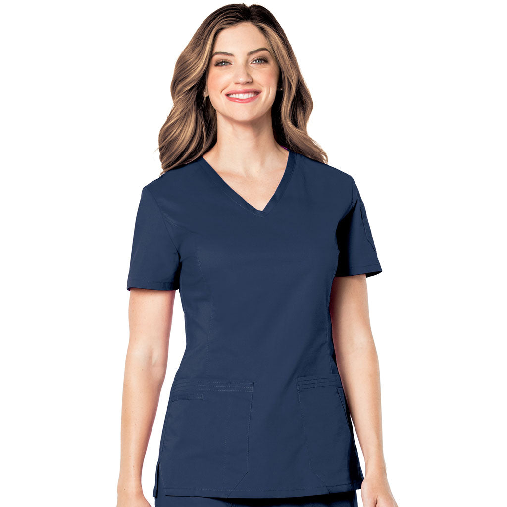 Landau Pre-Washed Scrub Navy Top -4125 ( M only)