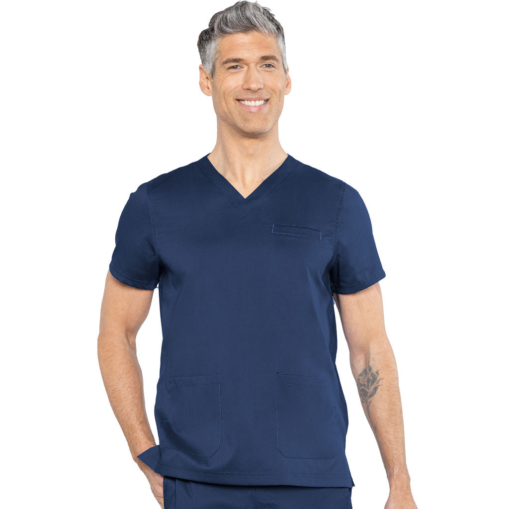 NEW Medcouture Men's Westcott Scrub Top - Navy 7477