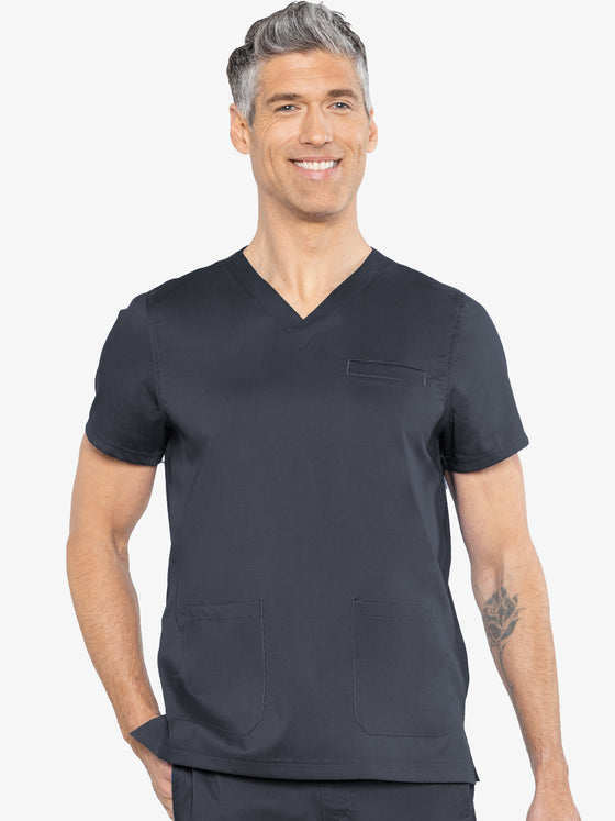 NEW Medcouture Men's Westcott Scrub Top - Pewter 7477