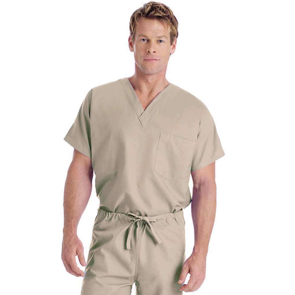 Landau One Pocket Unisex Scrub Top - 7502: Seasonal Colours