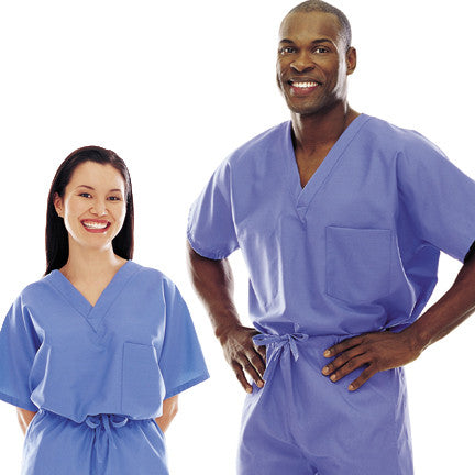 Landau One Pocket Unisex Scrub Top - 7502