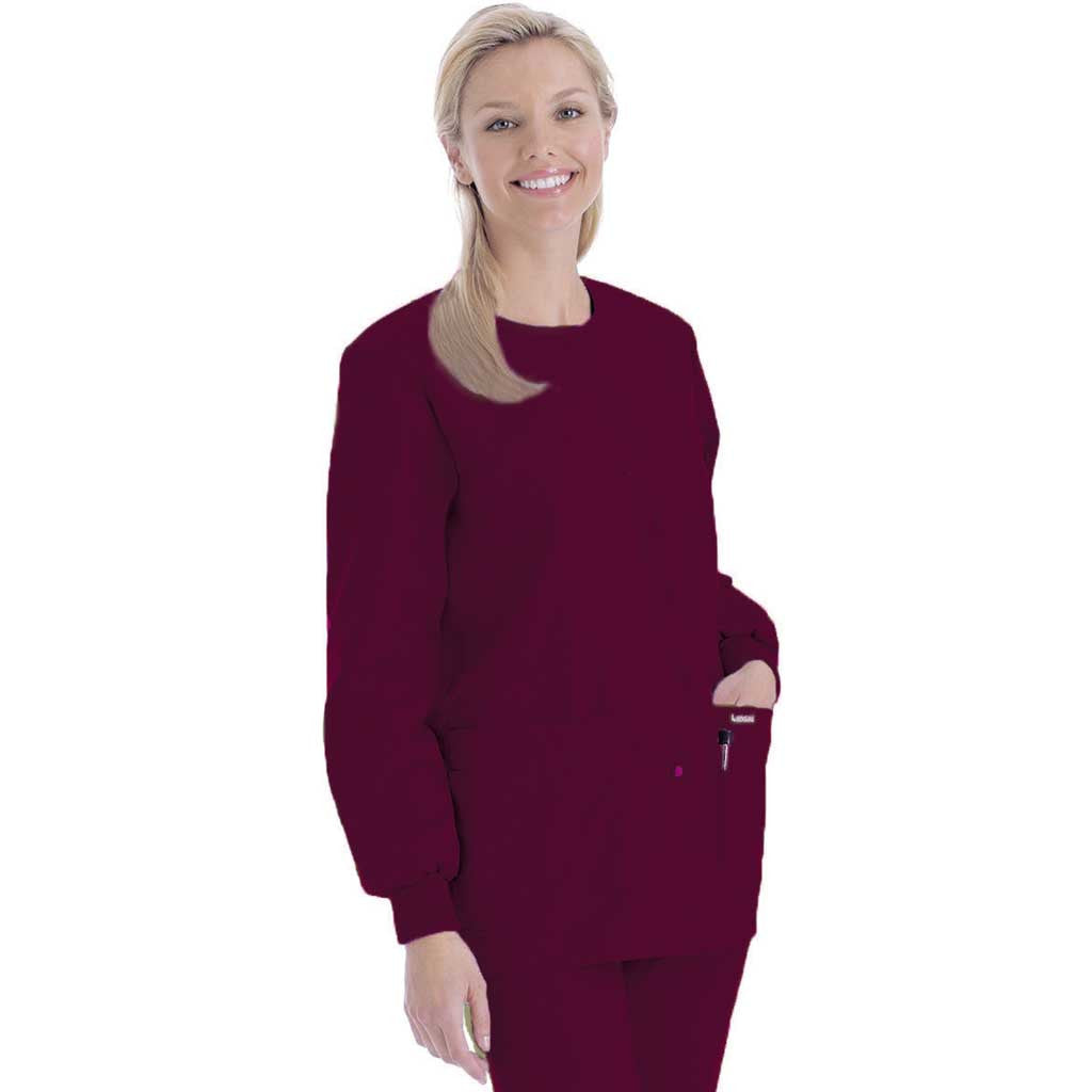 Landau Round Neck Warm-up Jacket - 7525 (seasonal colours)