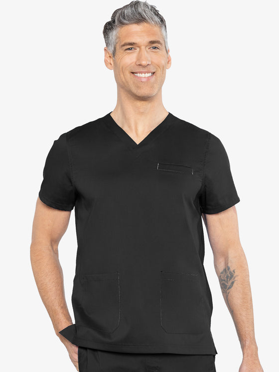 NEW Medcouture Men's Westcott Scrub Top - Black 7477
