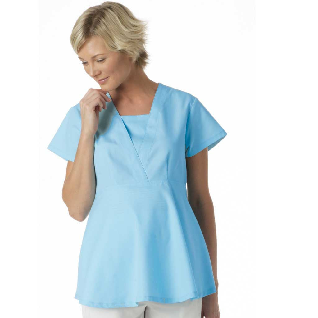 11fb71add2e LANDAU MATERNITY SCRUB TOP-Discontinued - 8001 - Hunter Scrubs