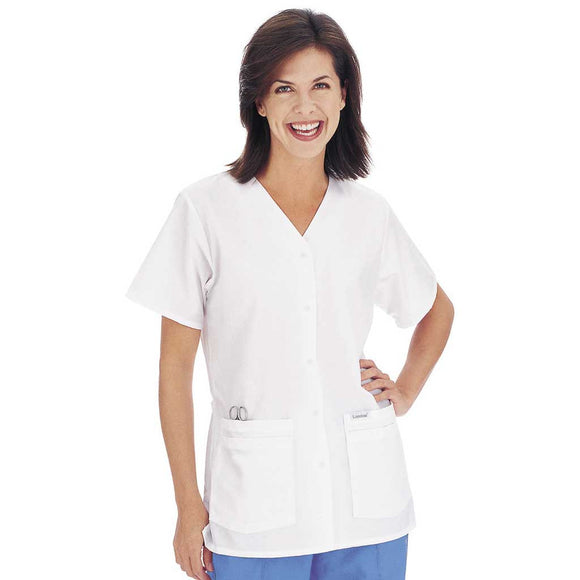 Landau Button Up V-Neck Tunic - 8232