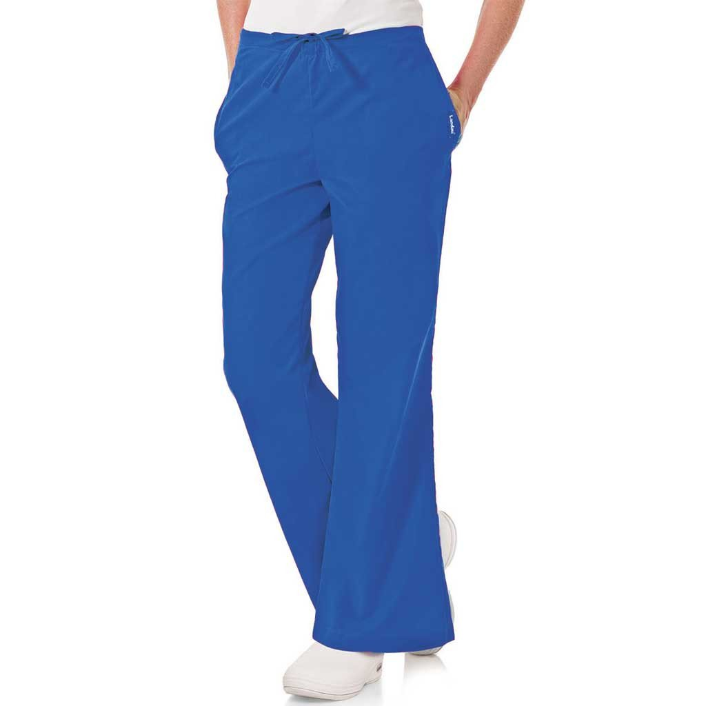 Landau Flare Scrub Pants - 8335 Royal Blue