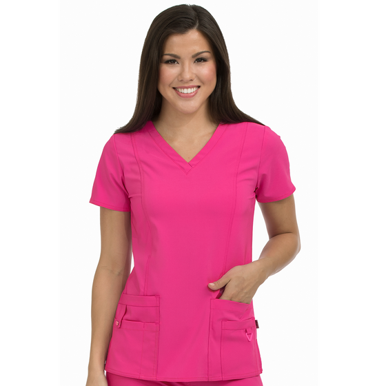 Medcouture In Motion Scrub Top - Pink Punch 8408