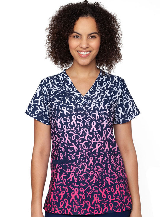 Medcouture Valerie Scrub Top- Fight Like A Girl- 8538