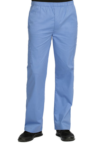 Medcouture Mens Ceil Blue Cargo Scrub Pant-8702 (Discontinued Style)