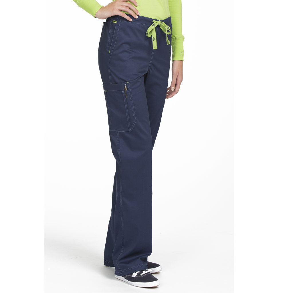 "Medcouture ""Layla"" Navy Scrub Pant-8741"