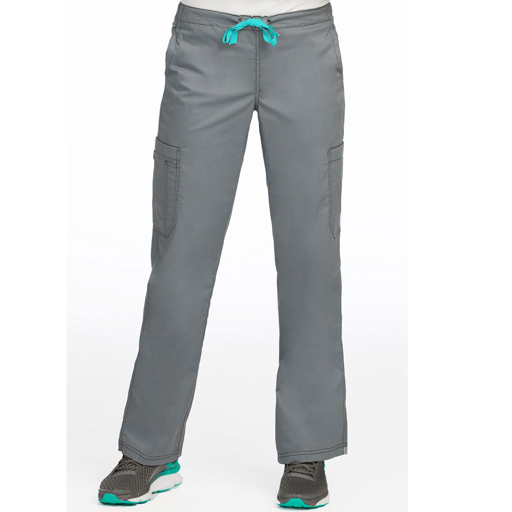 "Medcouture ""Layla"" Steel Grey Scrub Pant-8741 ( L Tall only)"