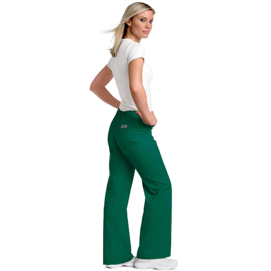Urbane Drawstring Scrub Pants - Hunter Green 9502