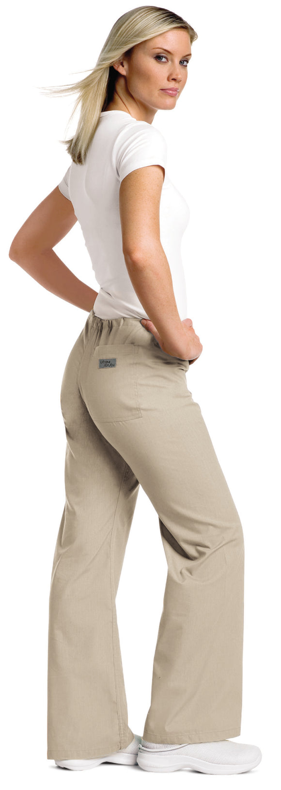 Landau Drawstring Scrub Pant - Sandstone 9502 (Discontinued Colours)
