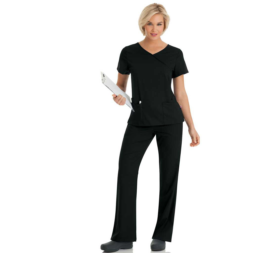 Urbane Women's Scrub Set - Black