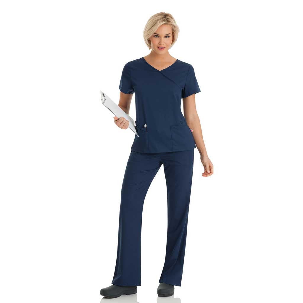 Urbane Women's Scrub Set - Navy