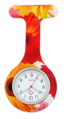 Autumn Daisy Nurse Fob Watch (illuminated hands)
