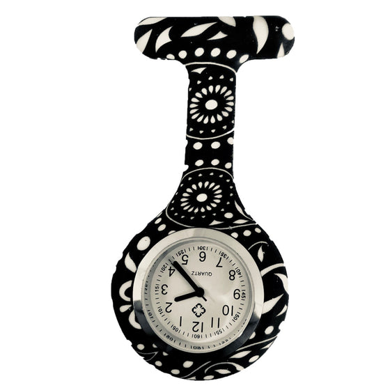 Black Paisley Nurse Fob Watches