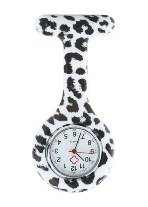 Black & White Nurse Fob Watch