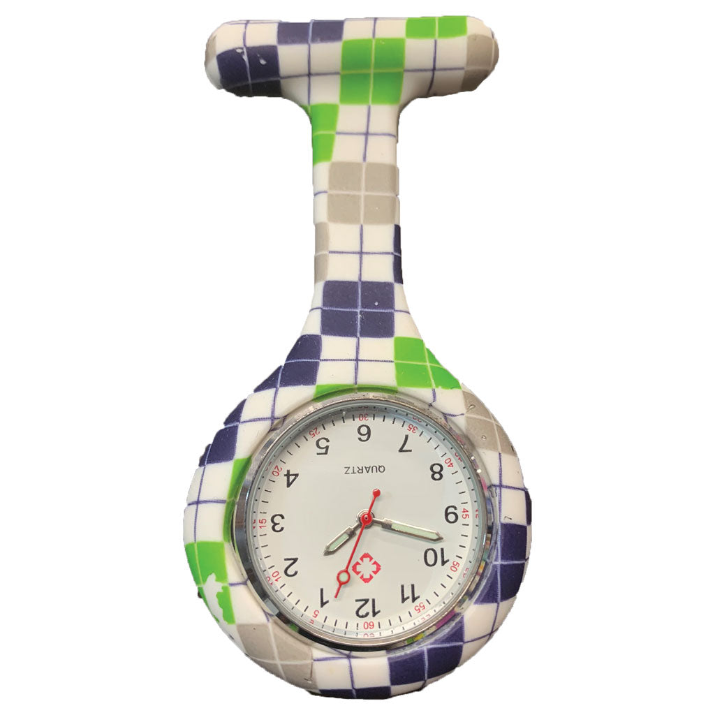 Checkered In Time  Nurse Fob Watch