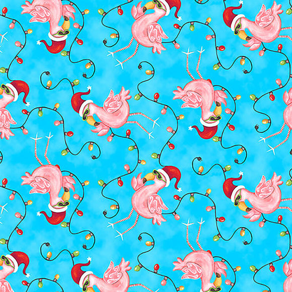 Christmas Flamingos Custom Womens Scrub Top