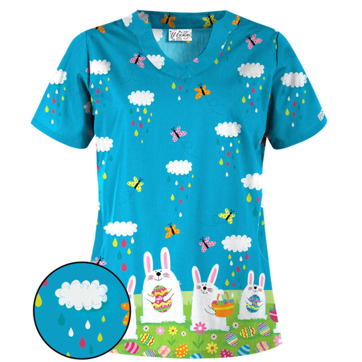 Easter Morning Scrub Top