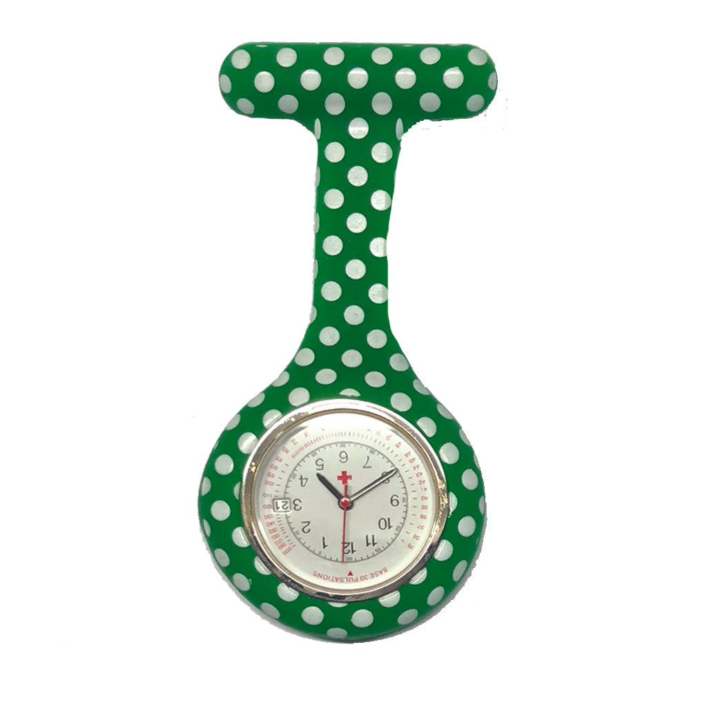 Nurse Calendar Fob Watch Polka Dots