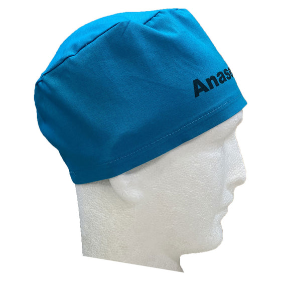 """The Identifier"" ELASTIC BACK Scrub Hat (100% cotton)"