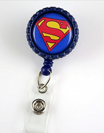 Super Man ID Badge Holder