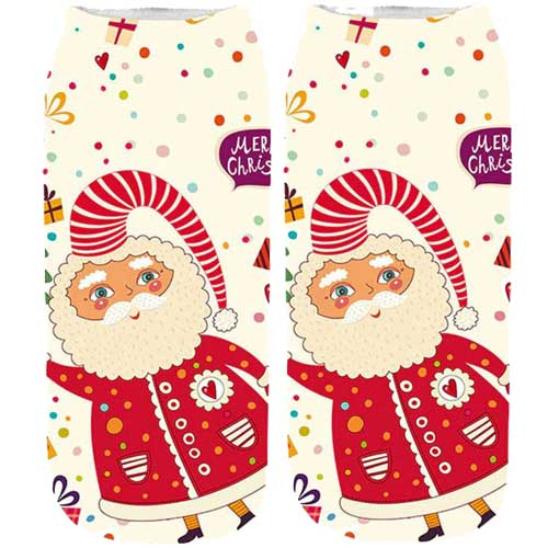 Christmas Ankle Socks- Jolly Santa