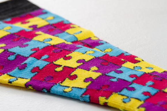 """Multi-Colour Puzzle"" Landau Men's Compression Socks"