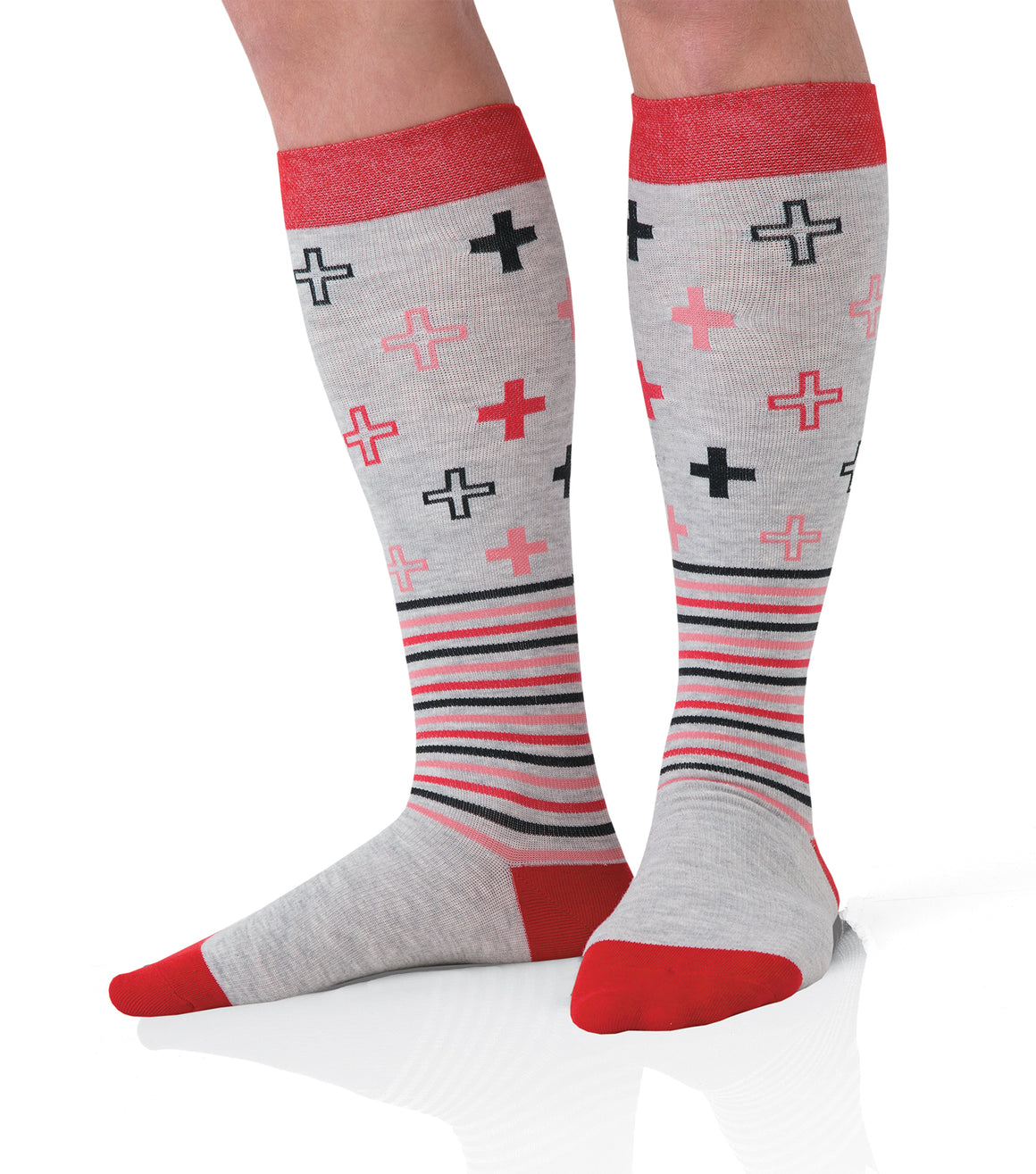 Landau Men's Compression Socks- Cross & Stripes