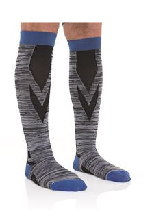 Landau Men's Compression Sock Black/grey/blue