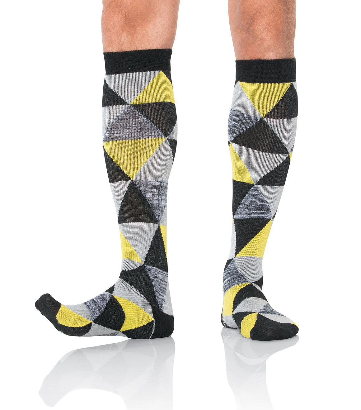 Landau Men's Compression Socks Yellow Geo