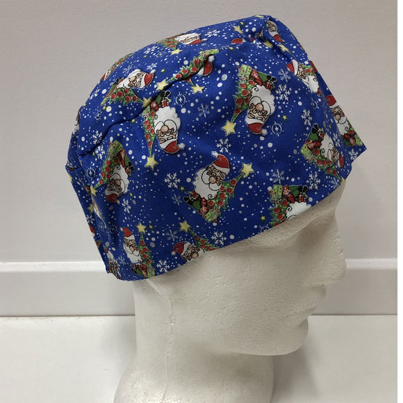 Christmas Elastic Back Scrub Hat - 1015E