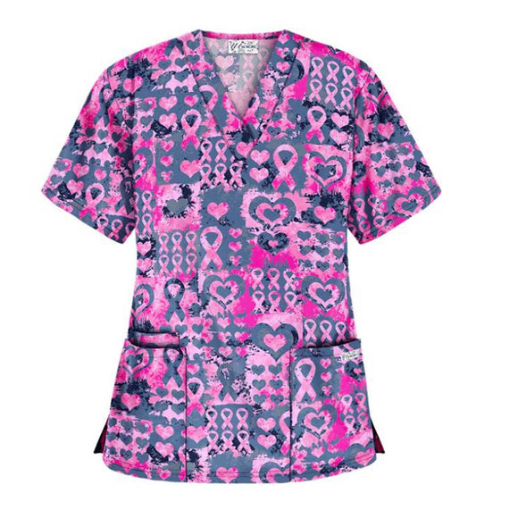 Pink Ribbon Passion Scrub Top