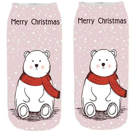 Christmas Ankle Socks- Polar Bear Christmas